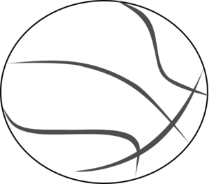 Basketball Outline Clip Art