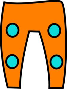 Orange Turquoise Trousers Clip Art
