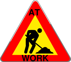 Construction At Work Sign Clip Art