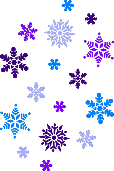 Multi blue snowflakes clip art at clker vector