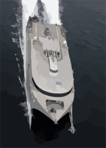 High Speed Vessel Two (hsv 2) Swift Glides Through The Waters Of The Atlantic Ocean. Clip Art