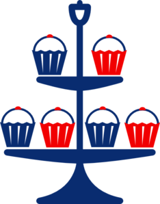 Cup Cake Stand Clip Art