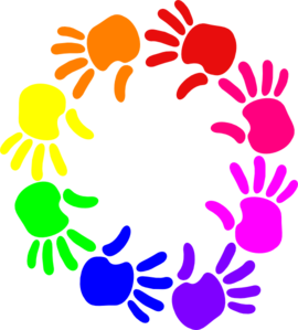 Colorful Circle Of Hands Clip Art