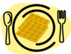Waffle Plate Fork Clip Art