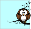 Owl On Branch 10 Clip Art
