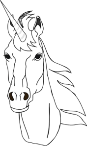 Unicorn Outline Clip Art