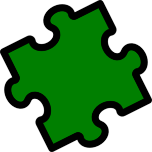 Green Puzzle Piece Clip Art