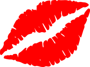 Red Lip Kiss Clip Art