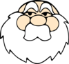 Wizard Without Hat Clip Art