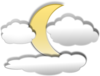 Clouds And The Moon Clip Art