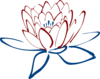 Red Blue Lotus Clip Art