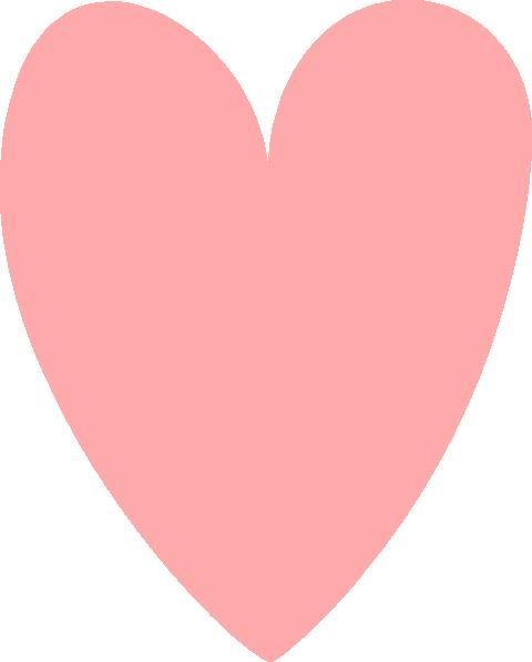 Coral Heart Clip Art at Clker.com - vector clip art online ...