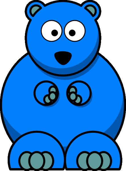 Bear blue. Clip art at clker