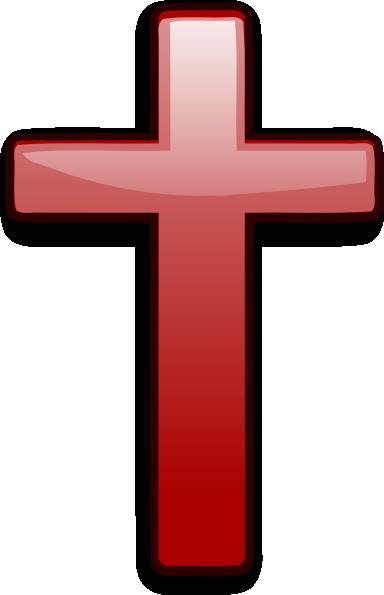 Red Gradient Cross clip art - vector clip art online, royalty free ...
