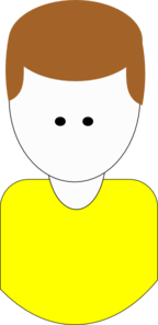 Man Cartoon (yellow) Clip Art