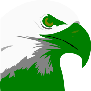 Green Eagle Head Clip Art