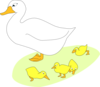 Goose With Gosling Clip Art