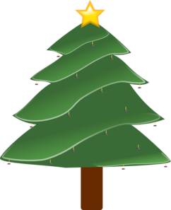 Christmas Tree Purple Decorations Clip Art