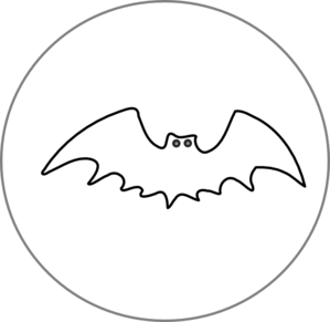 Bat And Moon Blank Clip Art