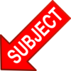 Red Subject Arrow Down Left Clip Art