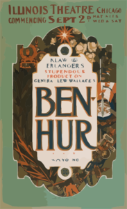 General Lew Wallace S Ben-hur Klaw & Erlanger S Stupendous Production. Clip Art