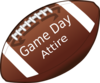 American Football Invitation Clip Art