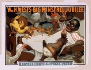Wm. H. West S Big Minstrel Jubilee Clip Art