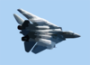 F-14 Low Level Fly-by Clip Art
