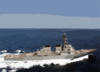 The Guided Missile Destroyer Uss Arleigh Burke (ddg 51) Conducts Underway Operations In Support Of Operation Iraqi Freedom. Clip Art