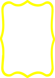 yellow frame clip art - Yellow Picture Frame