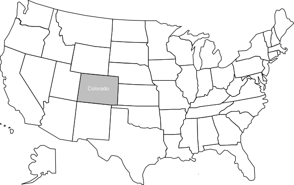 United States Map With Colorado Highlighted Clip Art At Clkercom - Colorado us map