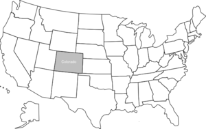 United States Map With Colorado Highlighted Clip Art At Clkercom - Colorado in us map