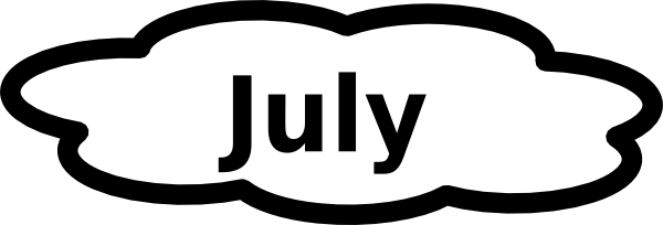 Clip Art Calendar July : July calendar sign clip art at clker vector