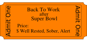 Back To Work After Super Bowl Clip Art