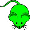 Green Mouse Graphic Clip Art