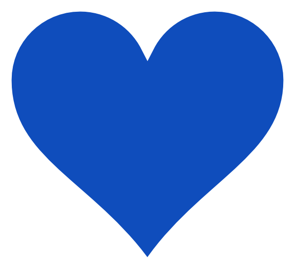 Blue Heart Clip Art at...