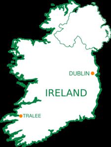 Tralee Ireland Map Clip Art At Clkercom Vector Clip Art Online - Ireland map download