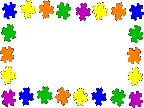 Orizontal jigsaw boarder clip art at clker com vector clip art