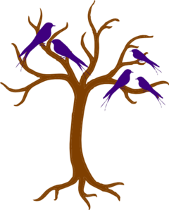 Blue Family Of Birds Clip Art