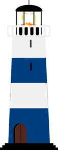 Blue And White Lighthouse Clip Art