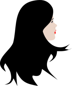 Long Haired Woman Clip Art