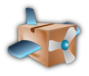 Flying Airplane Box Clip Art