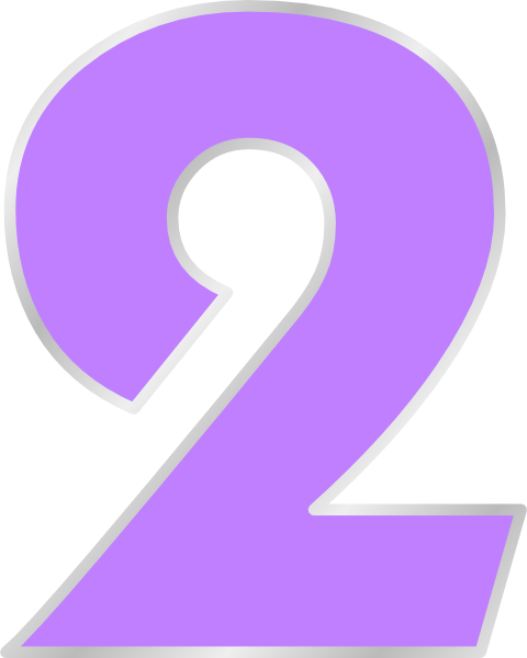 Purple Number 2 Clip Art At Clker Com Vector Clip Art