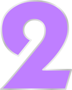 Purple Number 2 Clip Art