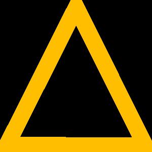 yellow triangle clip art at clker com vector clip art online rh clker com triangle clipart png triangle clip art images