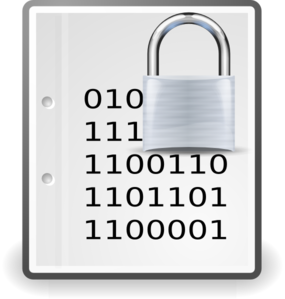 Locked Document Icon Clip Art