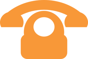 Orange Phone Clip Art
