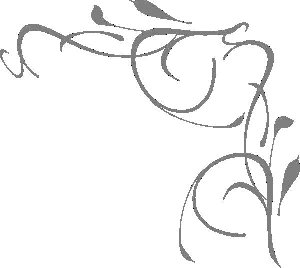 Gray Floral Corner Clip Art at Clker.com - vector clip art online ...