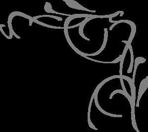 Gray Floral Corner Clip Art At Clkercom Vector
