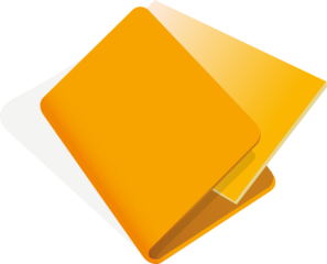 Orange File Clip Art